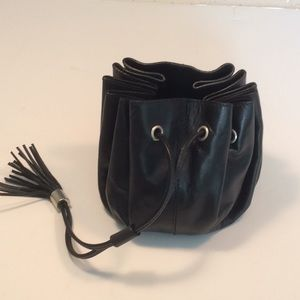 Givenchy small pouch pumpkin bag in black leather.